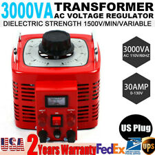 Transformer Variac Variable Ac Power Voltage Regulator Transformer 30a Metered