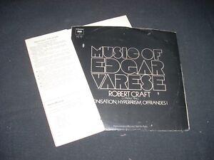Music-of-EDGAR-VARESE-Robert-Craft-Promo-7-034-33-Columbia-AS-19-WLP-VG-PS