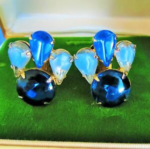 JULIANA-D-amp-E-colorful-quality-Rhinestone-Clip-on-Earrings-old-rt-k