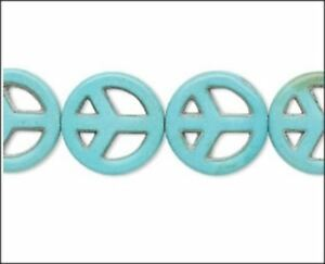 Turquoise-Color-Resin-Peace-Beads-10-Buy-1-Get-1-Free