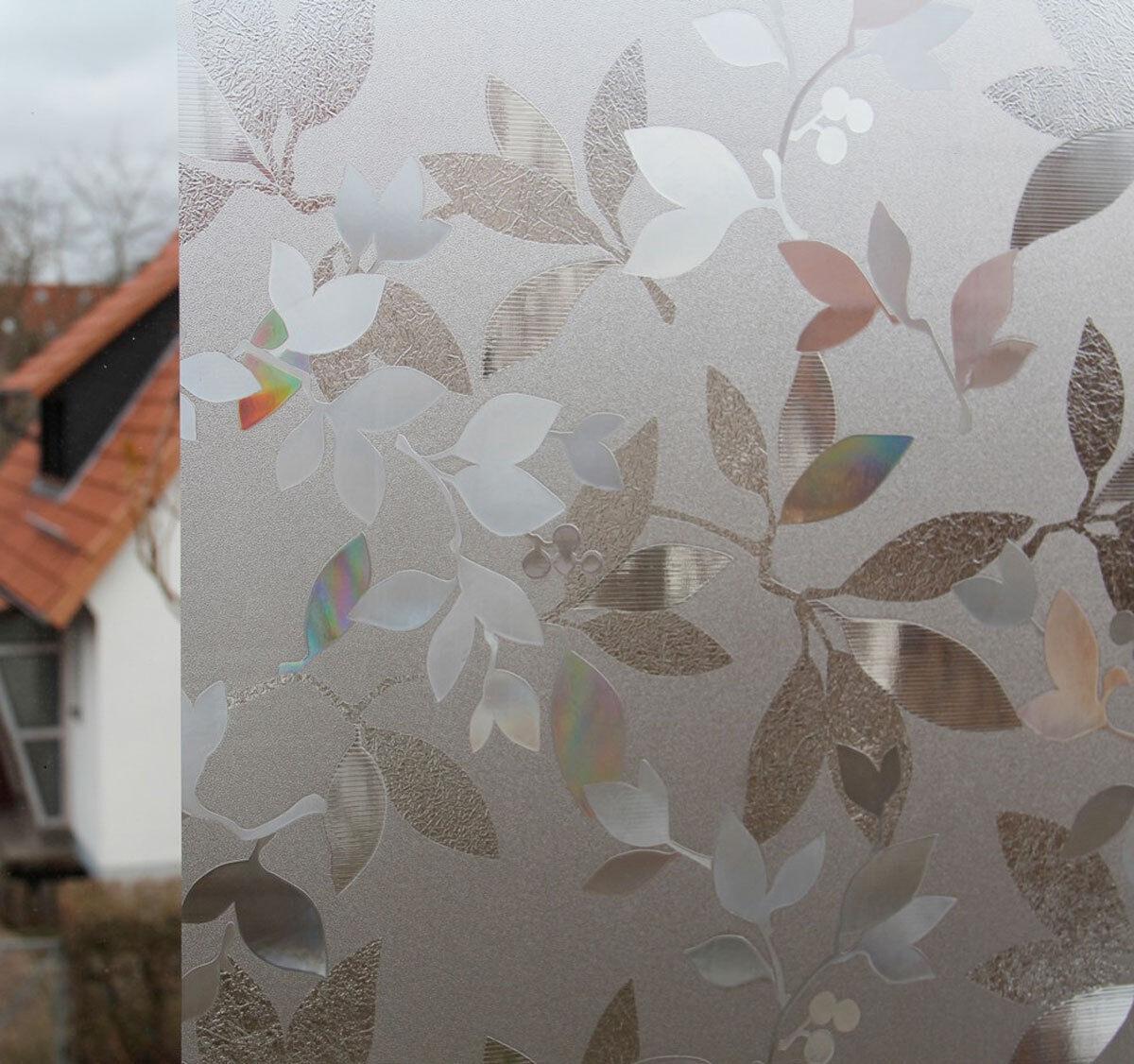 2,50 m x 0,46 m LINEA Fix Dekorfolie statische Fensterfolie GLC-1058 Blätter