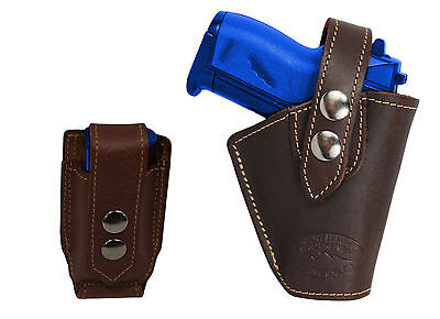 NEW Barsony Black Leather OWB Yaqui Holster Beretta Taurus MiniPocket 22 25 380