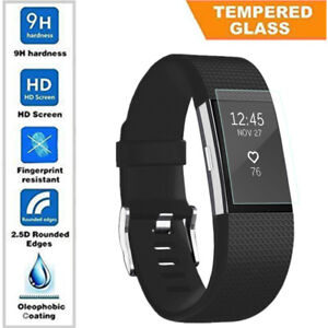 Details about Soft Tempered Glass Screen Protector & Charger For Fitbit  Charge 2 Smart Watch
