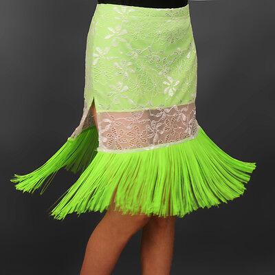 Latin salsa tango rumba Cha cha Square Ballroom Dance Dress#FM013 Skirt 2 Colors