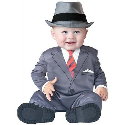 Business Baby Costume Infant Frank Sinatra Mad Men Funny Halloween Fancy Dress