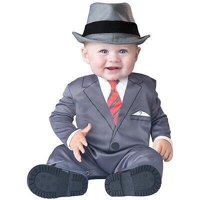 Business Baby Costume Infant Frank Sinatra Mad Men Funny Halloween Fancy Dress
