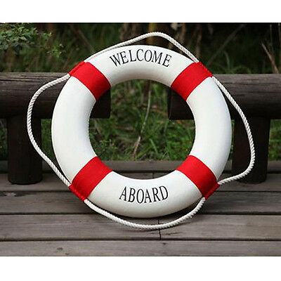 Decorative Welcome Aboard Nautical Lifebuoy Ring Wall Hanging Home Decoration