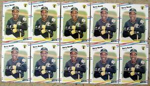 1988 Fleer #322 Barry Bonds Pittsburgh Pirates 10ct Card Lot