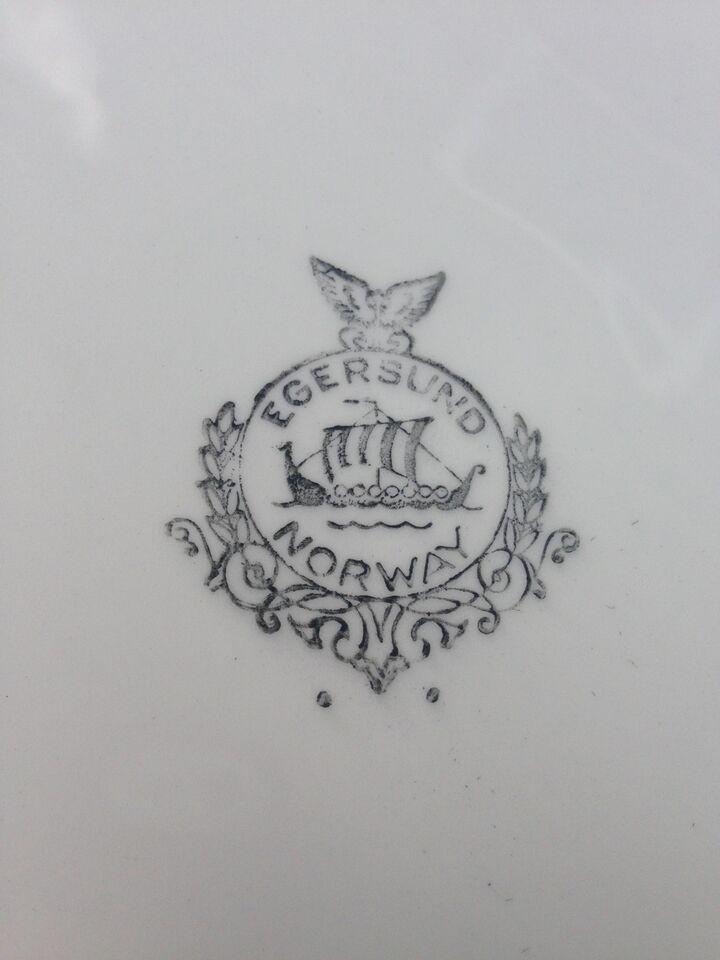 Porcelæn, Middagstallerkner, Egersund