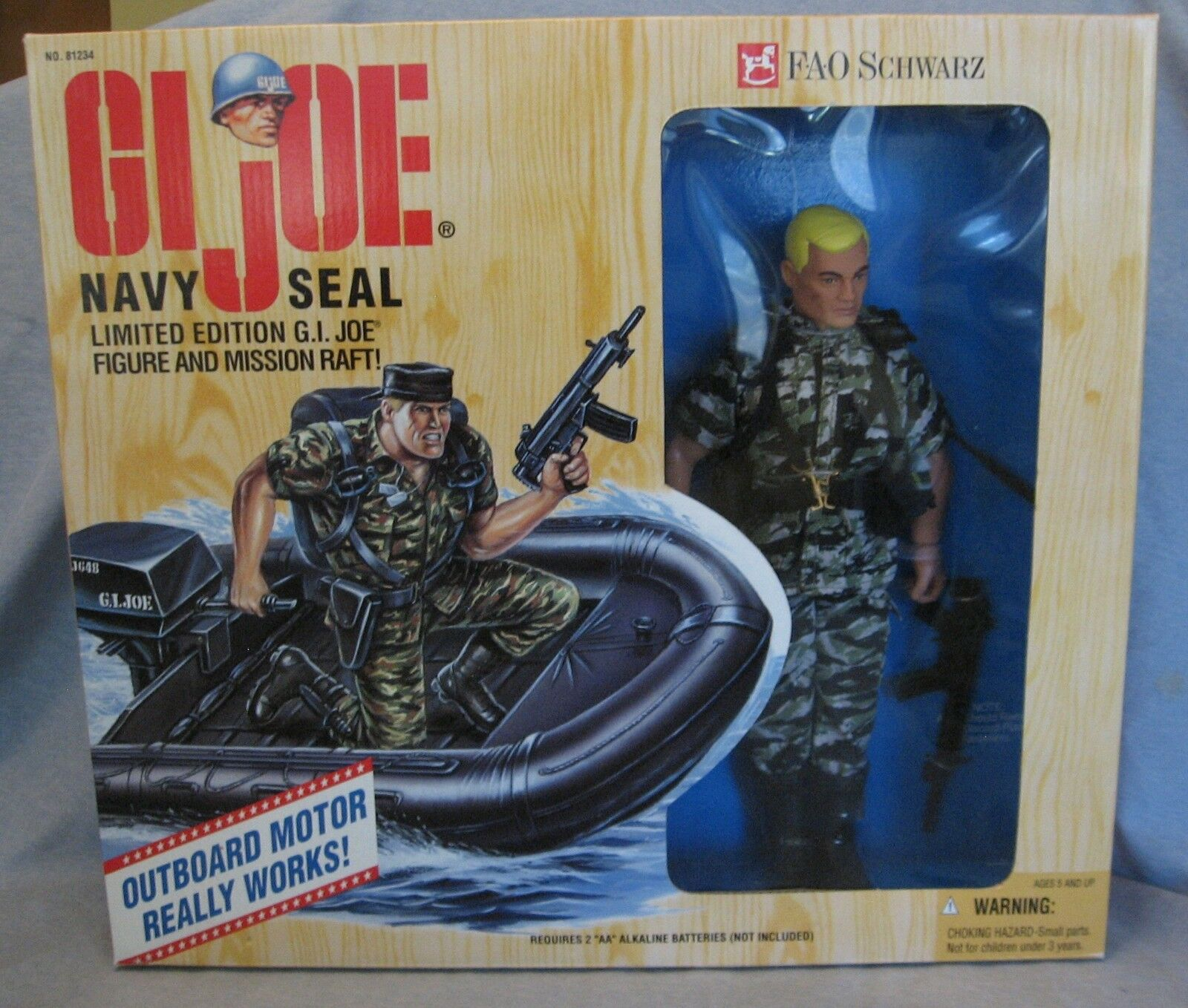 1995 GI Joe Navy Seal Limited Edition Edition Edition Set FAO black NIB Excellent Condition ca5144