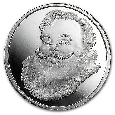 1/2 oz Santa Silver Round - with Gift Packaging - SKU #84767