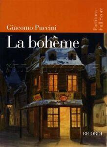 Trempé Puccini La Bohème Partitura Full Score Voix & Piano Music Book 9790041913513-afficher Le Titre D'origine