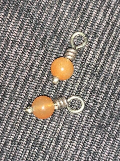 Brighton Mini Small Peach Coral Beads: Perfect for Hoop Earrings-Mini Lot of 2