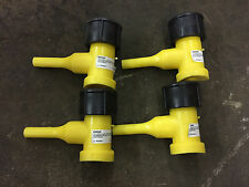 4pc LOT Central HDPE Fusion Butt Tap In Taping Tee Gas Service Line TT,6,IPS