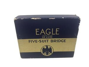 Eagle-Deluxe-Five-Suit-Bridge-Playing-Cards-w-Gilt-Edges-by-US-Playing-Card-Co
