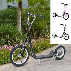 Adjustable-Teen-Kick-Scooter-Kids-Ride-On-Stunt-Street-Bike-16-034-Tire