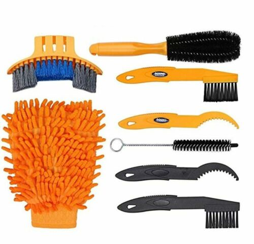 Bike Cleaning Kit Bicycle Cycling Chain Cleaner Scrubber Brushes Mountain Bike
