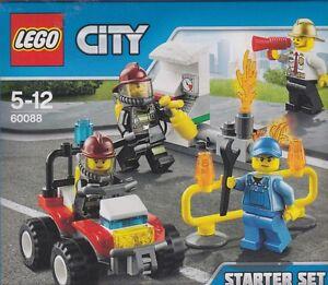 LEGO CITY 60088 FIRE STARTER SET with 4 minifigures FIREMEN   New Nib Sealed