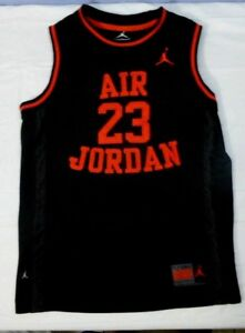 premium selection ec4e1 29c98 Details about Youth Nike Air Jordan Black And Red Stitched #23 Basketball  Jersey S