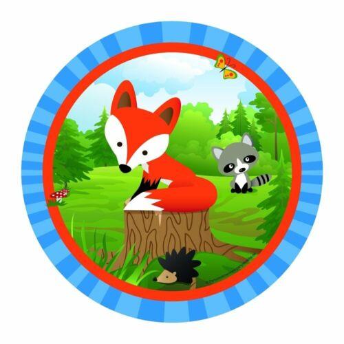 Renard Fox Party assiettes 23 cm Assiettes 8 Pièces plus intelligent Renard Fête