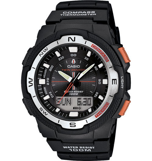Casio SGW500H-1BV, Resin Watch, Compass, Thermometer, 5 Alarms, World Time