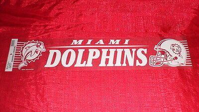 Miami Dolphins NFL Window Cling 24x5 inches NEW