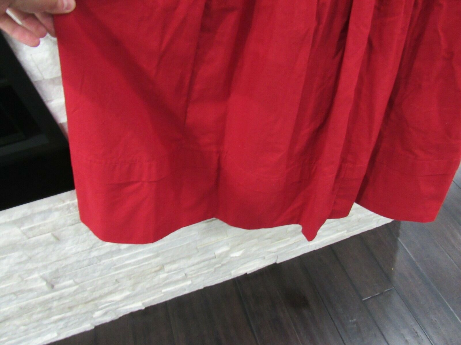 Vintage Laura Ashley 90s Red Heavy Cotton Puff Sl… - image 3