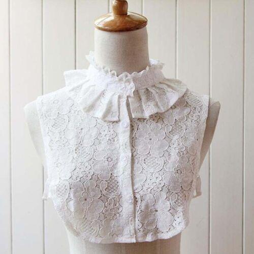 Novel Fake Collar Detachable False Females White Shirt Tops Ladies Lace Lapel