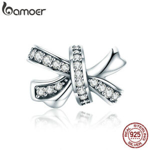 Bamoer-925-Sterling-Silver-charm-Sweet-Bowknot-With-Zircon-Fit-Bracelet-Jewelry