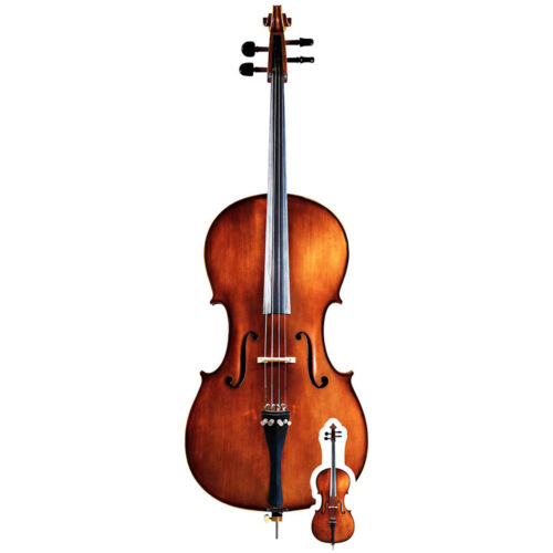 Standup //Standee Musical Instrument Cello Lifesize and Mini Cardboard Cutout