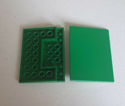 2 x Genuine Lego 4515 Dark Green Slope Ramp Gray Train Crossing 9v A36