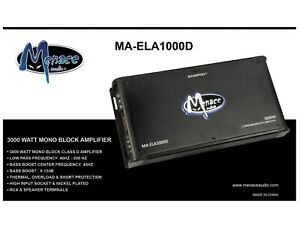 Menace Audio® 3000 Watt 1 OHM MonoBlock Amplifier