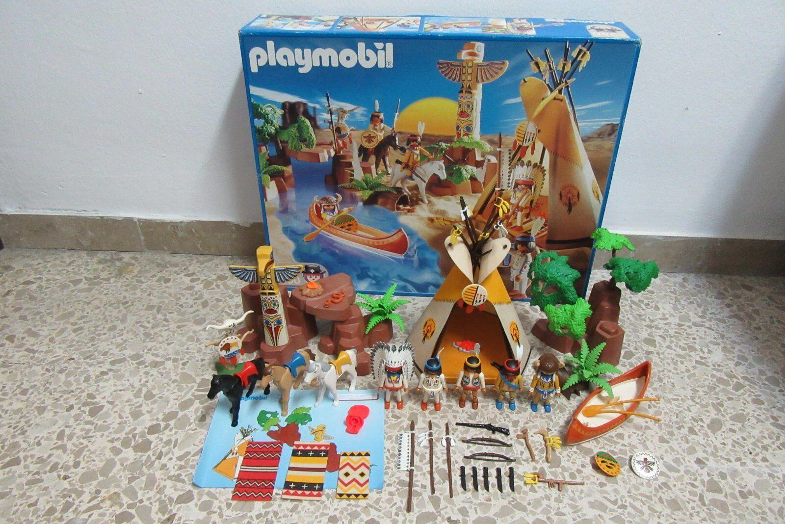 Playmobil - Western Oeste Indios - Campamento Tienda - 3250 -  COMPLETO  OVP