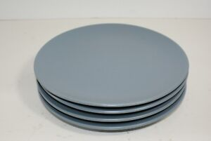 Ikea-139-00-Salad-Dessert-Luncheon-Plates-Blue-7-7-8-034-Lot-of-4-Faded-Mark
