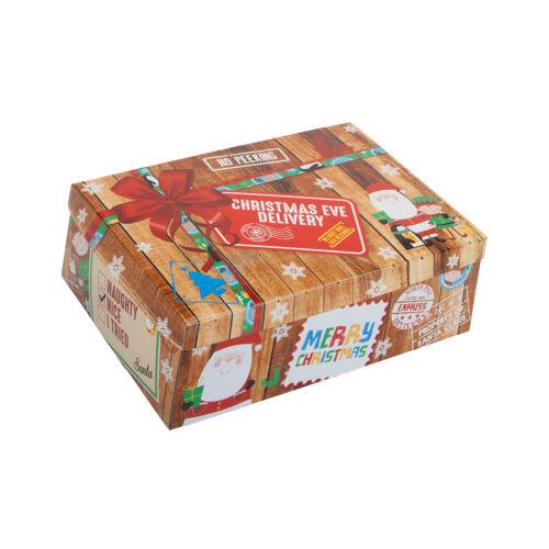 Geschenkbox Weihnachten Eve Lieferung Flach Größe Wählen