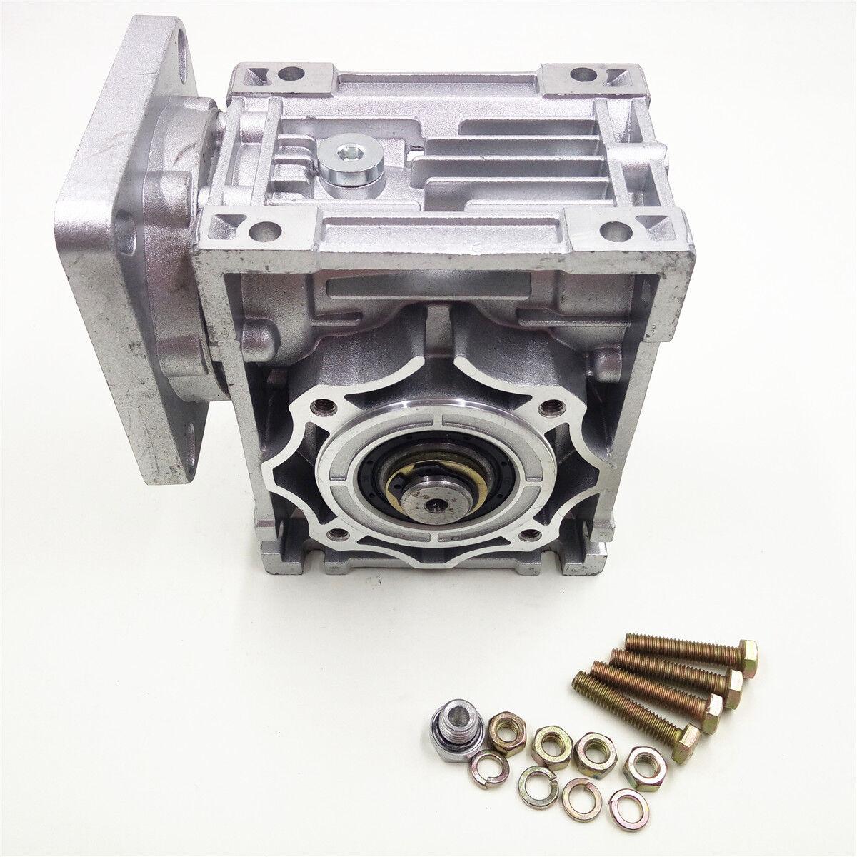 Nema34 Worm Gearbox Geared Speed Reducer 14mm Input Reduction for Stepper Motor 4