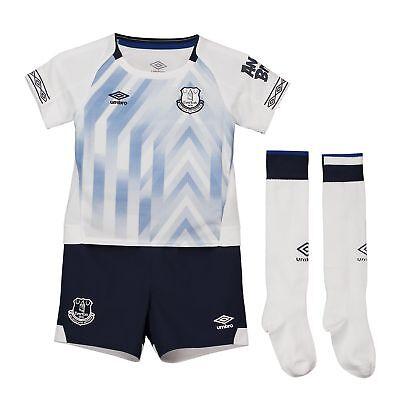 Importato Dall'Estero Ufficiale Everton Terzo Neonato Kit 2018 19 & Baby Umbro-mostra Il Titolo Originale