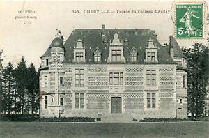 Carte-OHERVILLE-Facade-du-chateau-d-039-Aufflay
