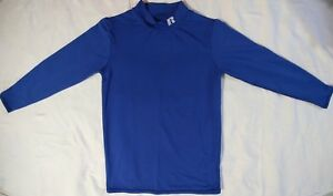 Russell Boys Blue Long Sleeve Baseball Compression Top Size Youth Large
