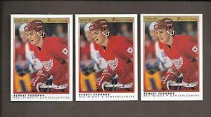 1990-91-OPC-Premier-Sergei-Federov-Lot-of-3-Rookie-RC-OPeeChee-NM-MT-Hockey-Card