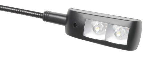 2x ADAM HALL SLED 1 USB PRO Superhelle LED Schwanenhalslampe Minilight Leselampe