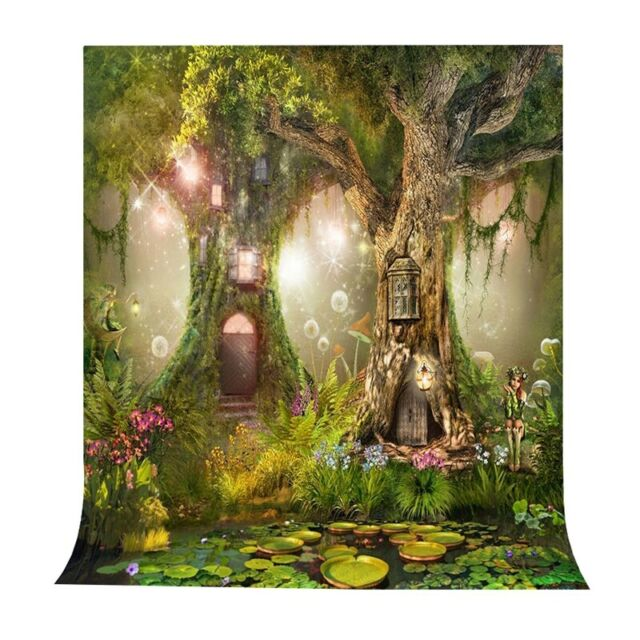 12x10ft Background Magical Plant Photography Backdrop Studio Fairytale Photo Props LHFU005