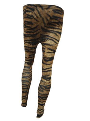 Mesdames imprimé animal leggings pleine pour femme imprimé legging 8//10 12//14 nouveau