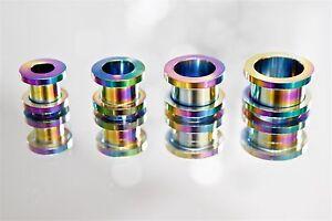 Tunnel-Plug-Flesh-Piercing-Ohr-Schraubgewinde-Ohrschmuck-rainbow