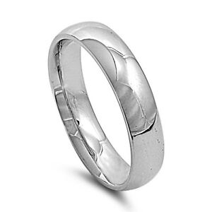 Stainless Steel Comfort Fit Wedding Band Ring 6mm Width Size 5 14
