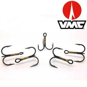 Treble Hooks Eagle Claw 954 Red Sizes 2-10  Tube Fly  Spinner Lures,Flying Cs.