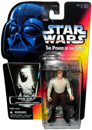 Star Wars Han Solo Carbonite Freeze Chamber Action Figure POTF Red Card Kenner !