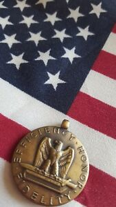 Details about BRASS WWII US ARMY EFFICIENCY HONOR FIDELITY MEDAL FOR GOOD  CONDUCT NO RIBBON