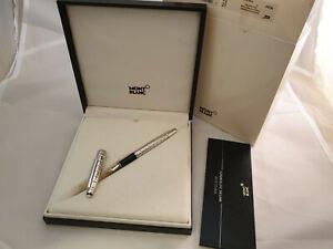 Analytique Montblanc Meisterstuck Solitaire 145 Platinum Plate Facet Fountain Pen M Nib Les Clients D'Abord
