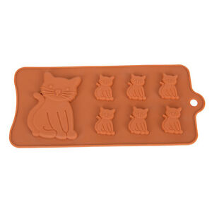 New-Cat-Kitten-Cavity-Silicone-Mold-for-Fondant-Gum-Paste-Chocolate-Crafts-JR